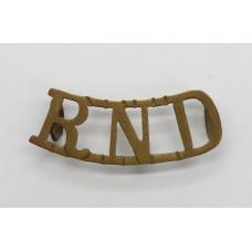 WWI Royal Naval Division (R.N.D.) Shoulder Title