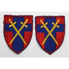 Pair of 21st Army Group Cloth Formation Signs