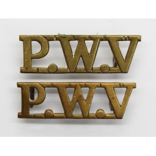 Pair of South Lancashire Regiment (P.W.V.) Shoulder Titles