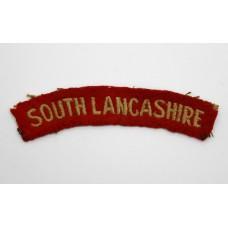 WW2 South Lancashire Regiment (SOUTH LANCASHIRE) Cloth Shoulder Title