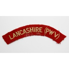 Lancashire Regiment (LANCASHIRE (PWV)) Cloth Shoulder Title
