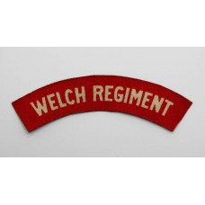 Welch Regiment (WELCH REGIMENT) WW2 Printed Shoulder Title