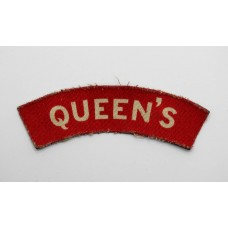 Queen's Royal West Surrey Regiment (QUEEN'S) WW2 Printed Shoulder