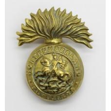 Northumberland Fusiliers Brass Cap Badge