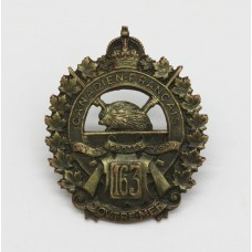 Canadian 163rd (Canadiens Francais) Infantry Bn. C.E.F. WWI Collar Badge