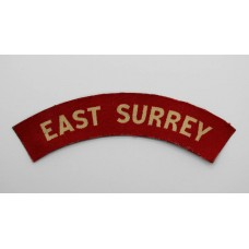 East Surrey Regiment (EAST SURREY) WW2 Printed Shoulder Title