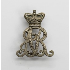 Queen's Own Oxfordshire Hussars Officer's Silver Plated Collar Badge