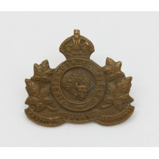 Canadian First Mounted Rifles Bn. C.E.F. WWI Collar Badge