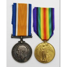 WW1 British War & Victory Medal Pair - Pte. J. Gillie, Durham Light Infantry