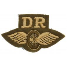 British Army Despatch Rider (D.R.) Winged Wheel Cloth Proficiency Arm Badge