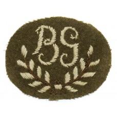 British Army Bren Gunner (B.G.) Cloth Proficiency Arm Badge