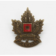 WWI 11th Canadian Railway Troops Battalion C.E.F. Collar Badge