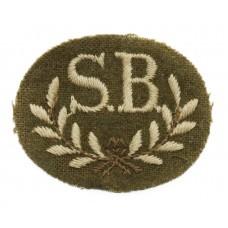 British Army Stretcher Bearer (S.B.) Cloth Proficiency Arm Badge