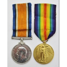 WW1 British War & Victory Medal Pair - Pte. G.C. Tuckley, Duke of Cornwall's Light Infantry