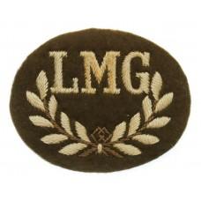 British Army Light Machine Gunner (L.M.G.) Cloth Proficiency Arm Badge