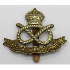 South Staffordshire Regiment Cap Badge - King's Crown