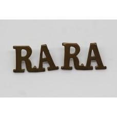 Pair of Royal Artillery (R.A.) Shoulder Titles