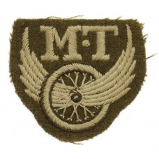 British Army Motor Transport (M.T.) Winged Wheel Cloth Proficiency Arm Badge