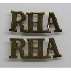 Pair of Royal Horse Artillery (R.H.A.) Shoulder Titles