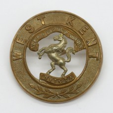 Royal West Kent Regiment Bi-Metal Helmet Plate Centre