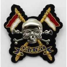 Royal Lancers Officer's Metal & Bullion Beret Badge