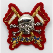 Royal Lancers Officer's Metal & Bullion Beret Badge (Red Back