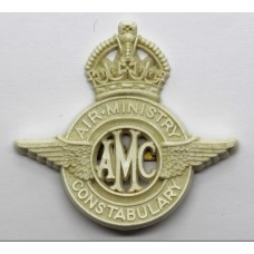 Rare Air Ministry Constabulary WW2 Plastic Economy Cap Badge