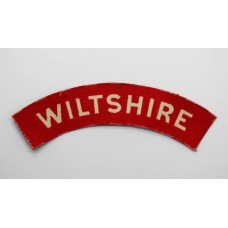 Wiltshire Regiment (WILTSHIRE) WW2 Printed Shoulder Title