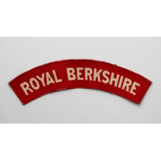 Royal Berkshire Regiment (ROYAL BERKSHIRE) Printed Shoulder Title