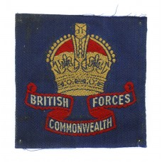 British Commonwealth Forces Cloth Formation Sign - King's Crown
