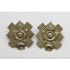 Pair of Highland Light Infantry (H.L.I.) Collar Badges - King's Crown