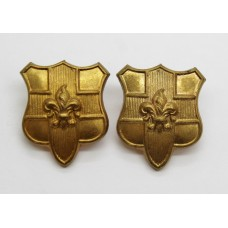 Pair of Loyal North Lancashire Regiment Collar Badges