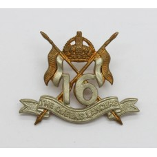 16th/5th The Queen's Lancers Collar Badge - King's Crown