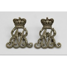 Pair of Queen's Own Oxfordshire Hussars Collar Badges