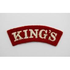 The King's Regiment (KING'S) Cloth Shoulder Title