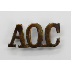 Army Ordnance Corps (A.O.C.) Shoulder Title