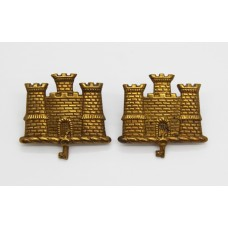Pair of Suffolk Regiment Collar Badges