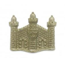 Cambridgeshire Regiment White Metal Collar Badge