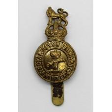 Royal Devon Yeomanry Artillery Cap Badge - King's Crown