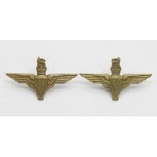 Pair of Parachute Regiment Collar Badges - Queen's Crown
