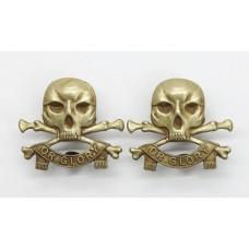 Pair of 17th/21st Lancers Collar Badges