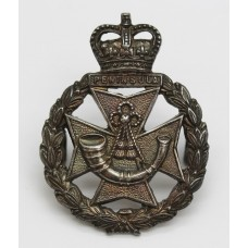Green Jackets Brigade Officer's Hallamrked Silver Cap Badge