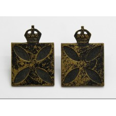 Pair of Royal Army Chaplain's Department Collar Badges - 1st Pattern