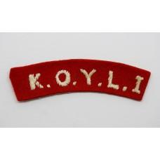 Kings Own Yorkshire Light Infantry (K.O.Y.L.I.) Cloth Shoulder Title