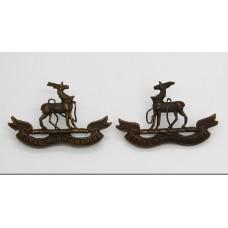 Pair of Royal Warwickshire Regiment Officer's Service Dress Collar Badges