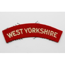 West Yorkshire Regiment (WEST YORKSHIRE) Cloth Shoulder Title