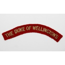 Duke of Wellingtons ( West Riding ) (THE DUKE OF WELLINGTON'S) Regiment Cloth Shoulder Title