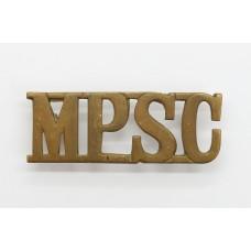 Military Provost Staff Corps (M.P.S.C.) Shoulder Title