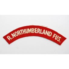 Royal Northumberlsnd Fusiliers (R.NORTHUMBERLAND FUS) Cloth Shoulder Title