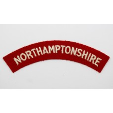 Northamptonshire Regiment (NORTHAMPTONSHIRE) Cloth Shoulder Title